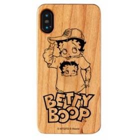 iPhone XS MAX ケース ベティ・ブープ ベティー ブープ Betty Boop ベティちゃん iPhoneXS Max ウッドケース Street 【Gizm】