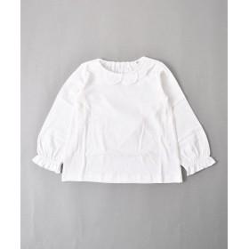 【50%OFF】 べべオンラインストア 天竺レースエリTシャツ レディース ホワイト 120cm 【BEBE ONLINE STORE】 【セール開催中】
