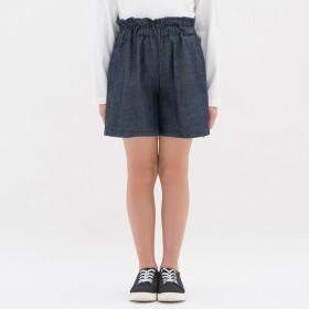 (GU)GIRLSデニムキュロット BLUE 110