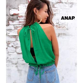 【セール開催中】ANAP(アナップ)ホルターバックオープントップス