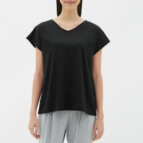 GU ジーユー バックデザイン VネックTシャツ 半袖