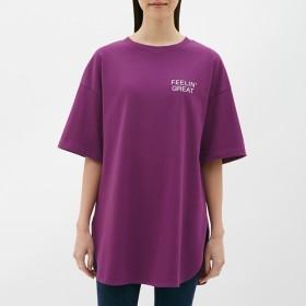 GU オーバーサイズロゴT 5分袖