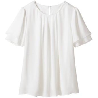 フロントタックブラウス(吸汗速乾裏地付) (大きいサイズレディース) plus size shirts, 衫, 襯衫