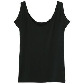 (GU)GUドライヒンヤリタンクトップB(汗取りパッド付き) BLACK XL