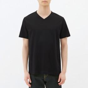 (GU)VネックT(半袖) BLACK L