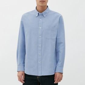 (GU)オックスフォードシャツ(長袖) LIGHT BLUE S