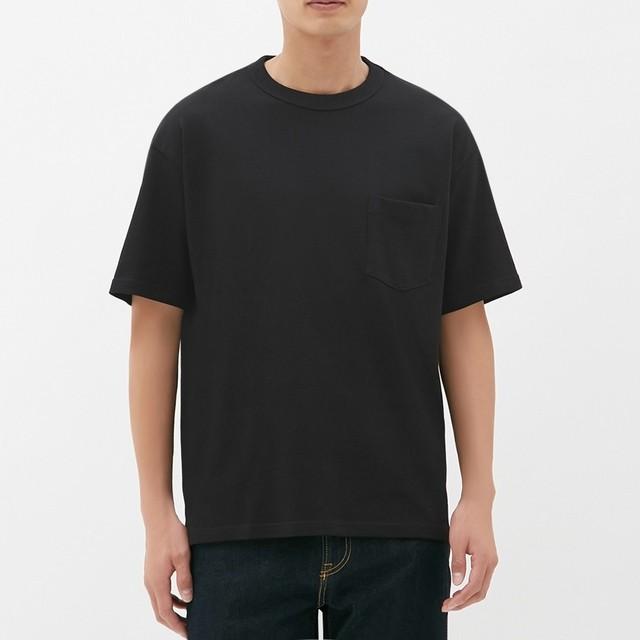 (GU)ヘビーウェイトビッグT(半袖) BLACK S