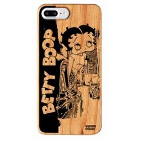 iPhone8Plus iPhone7Plus ケース ベティ・ブープ ベティー ブープ Betty ベティちゃん 6sPlus 6Plus ウッド カバー Downtown 【Gizm】