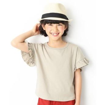 デビロック フリルスリーブTシャツ 女の子 レディース グレージュ 100 【devirock】