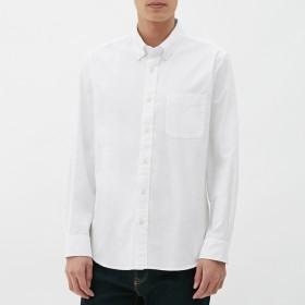 (GU)オックスフォードシャツ(長袖) OFF WHITE S