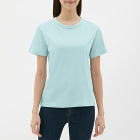 (GU)カラークルーネックT(半袖) BLUE XS