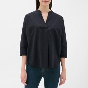 GU リネンブレンドスキッパーシャツ 7分袖