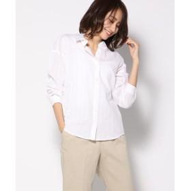 Ketty Cherie / ケティ シェリー 綿絡みストライプチュニックシャツ
