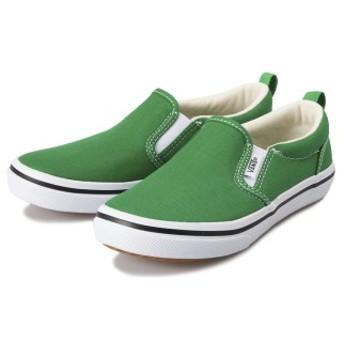 キッズ 【VANS】 SLIP ON (14-21) ヴァンズ スリッポン V98CJS COL GREEN 14cm