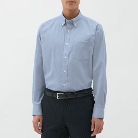 (GU)イージーケアピンオックスフォードシャツ(長袖)CL BLUE L