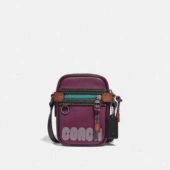 COACH コーチ ディラン 10 スムース レザー ウィズ コーチ プリント バッグ
