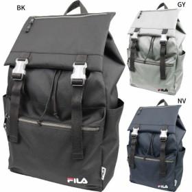 送料無料 フィラ メンズ レディース フラップリュック リュックサック デイパック バックパック バッグ 鞄 かぶせ 軽量 通勤 通学 大容量 ロゴ FL-0004