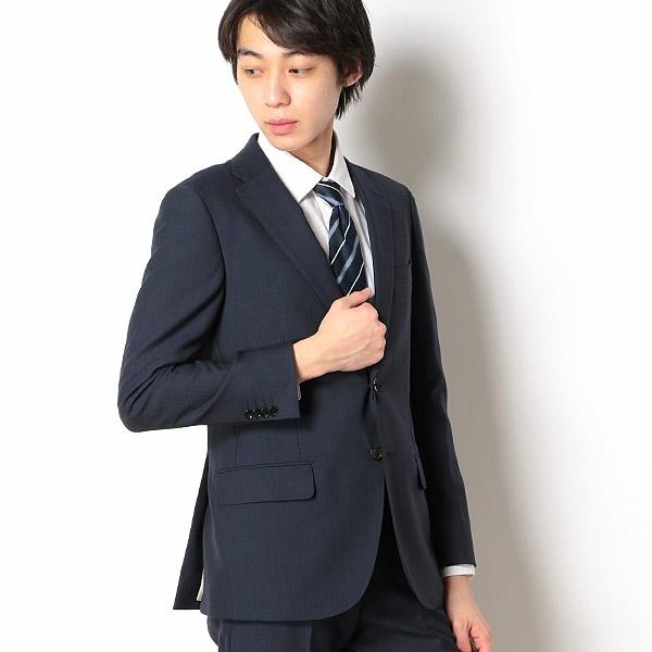 ソリッド+ 【Dresspresso】 【WEB限定】 (メンズ) ネイビー/ スーツ+ ナノ・ユニバース (nano universe) スタンダード+