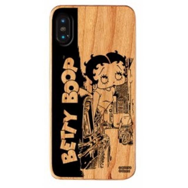 iPhone XS MAX ケース ベティ・ブープ ベティー ブープ Betty Boop ベティちゃん iPhoneXS Max ウッドケース Downtown 【Gizm】