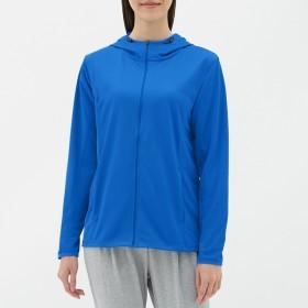 (GU)UVカットフルジップパーカ(長袖)GS BLUE M