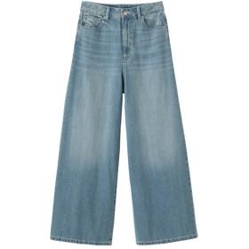 (GU)ハイウエストスーパーワイドジーンズ BLUE XL