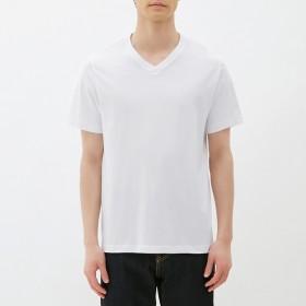 (GU)VネックT(半袖) WHITE M