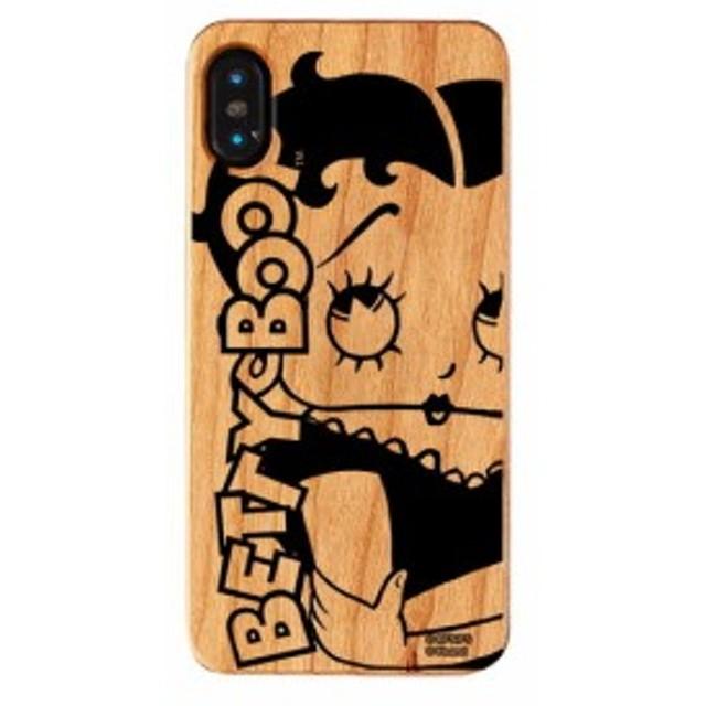 iPhone XS iPhone X ケース ベティ・ブープ ベティー ブープ Betty Boop ベティちゃん iPhoneXS iPhoneX ウッドケース Woman 【Gizm】
