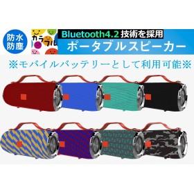 【送料無料】 ! 高音質 充電式 Bluetooth スピーカー ワイヤレス 通話可 iphone7/8/X iPad3 スマホ 対応!モバイルバッテリとして使用可能