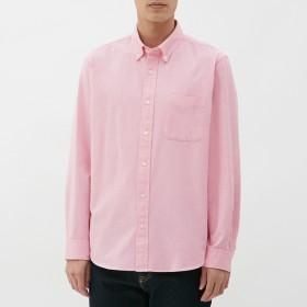 (GU)オックスフォードシャツ(長袖) PINK M