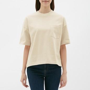 (GU)ヘビーウェイトT(5分袖) NATURAL XL