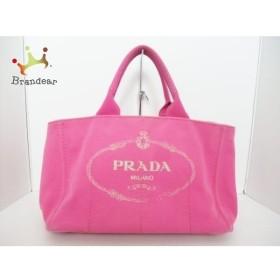 1d628253a39a プラダ PRADA トートバッグ CANAPA ピンク キャンバス スペシャル特価 20190415