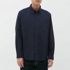 (GU)オックスフォードシャツ(長袖) NAVY L