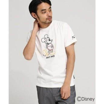 BASE STATION / ベースステーション 【WEB限定】 DISNEY ディズニー Tシャツ ラインアート 半袖Tシャツ (ミッキーマウス)