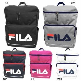 送料無料 フィラ メンズ レディース スクエアリュック リュックサック デイパック バックパック バッグ 鞄 軽量 通勤 通学 大容量 ロゴ FL-0003