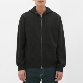 (GU)スウェットフルジップパーカ(長袖) BLACK S