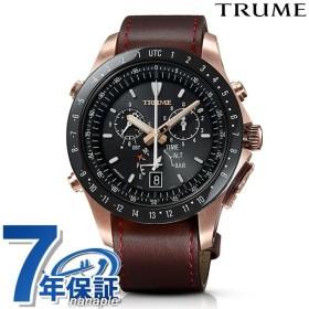 エプソン 時計 トゥルーム エアラインパイロット 東雲 GPS電波ソーラー 腕時計 TR-MB5009 TRUME ブラック×ブラウン