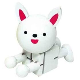 木製キューブドール ウサギ