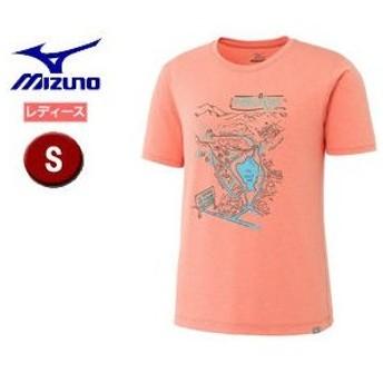 mizuno/ミズノ A2JA7222-52 ヘザーライト長袖プリントTシャツ 【S】 (ルミナスオレンジ)