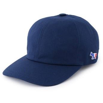 MAISON KITSUNE メゾンキツネ AU06100 TRICOLOR FOX PATCH 刺繍 キャップ 帽子 ベースボールキャップ カラーNAVY