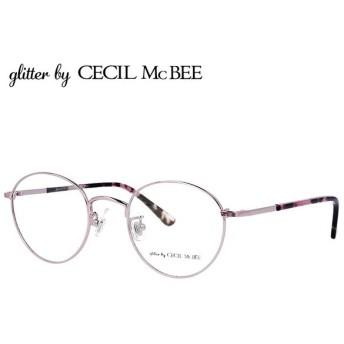 グリッターバイセシルマクビー メガネ フレーム 伊達 度付き 度入り 眼鏡 アジアンフィット glitter by CECIL McBEE GCF 3504-1 47