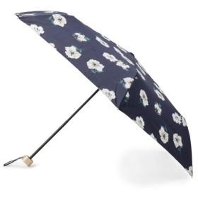 グローブ Wpc. 晴雨兼用 ガーリーフラワー折りたたみ傘 レディース ネイビー(419) 00 【grove】