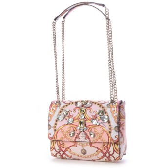 ゲス GUESS JORI CONVERTIBLE CROSSBODY FLAP (ROSE MULTI)