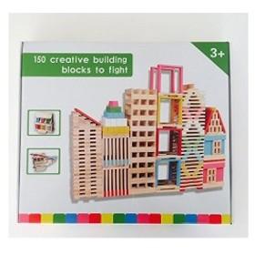 【オーエルジー】 ブロック 木製 積み木 魔法の板 カラー150