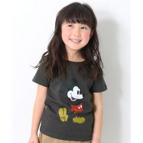 デビロック ミッキー柄Tシャツ レディース ブラック 140 【devirock】