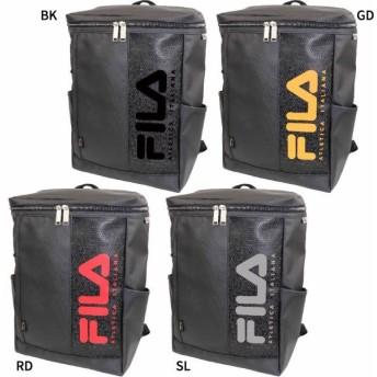 送料無料 フィラ メンズ レディース スクエアリュック リュックサック デイパック バックパック バッグ 鞄 撥水 大容量 ボックス型 スクエア型 FL-0006