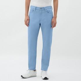 (GU)ストレッチカラースリムパンツ BLUE 34