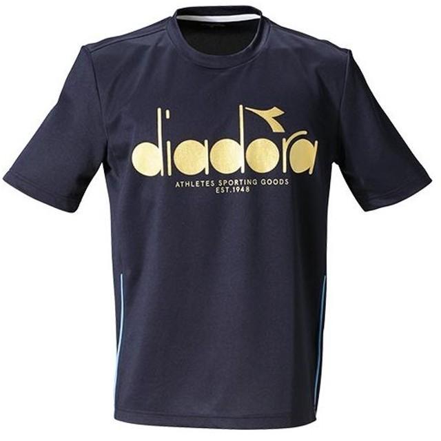 0d963848f8286 ディアドラ(diadora) メンズ テニス ロゴトップ ネイビー DTP9521 68 テニスウェア ゲームウェア ゲーム
