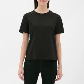 (GU)カラークルーネックT(半袖) BLACK M