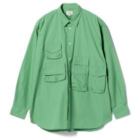 【50%OFF】 ビームス メン BEAMS / ユーティリティ シャツ メンズ GREEN S 【BEAMS MEN】 【セール開催中】