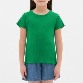 (GU)GIRLSリブT(半袖) GREEN 120